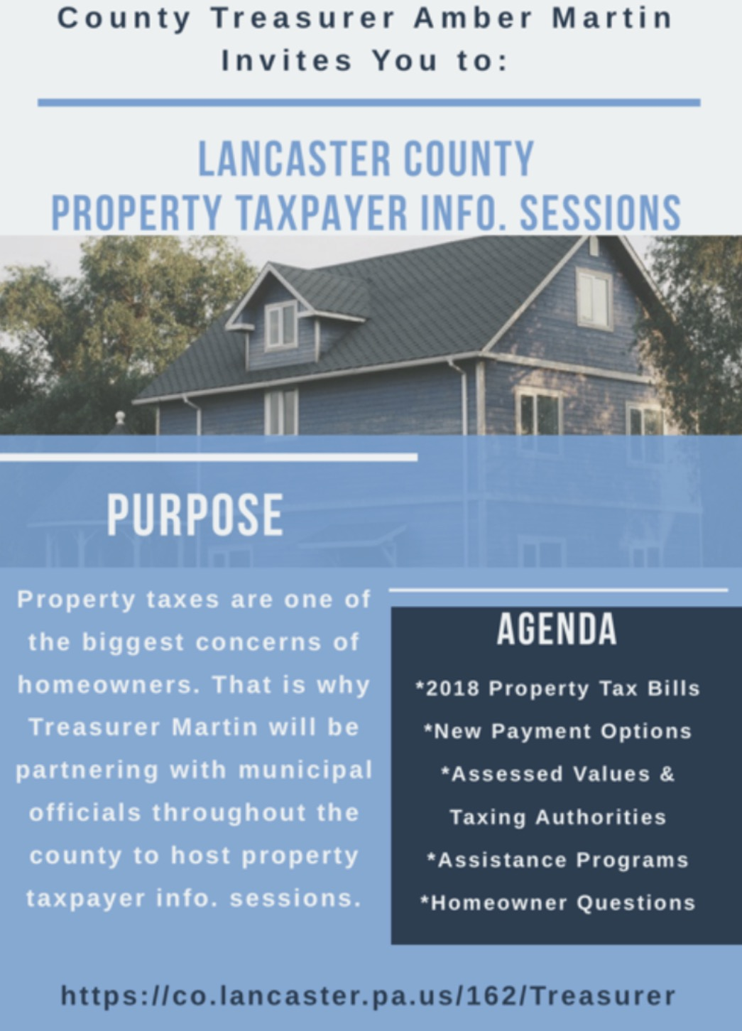 2018 Property Tax Payer Info Sessions