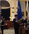 Flag ceremony from 2015 graduation